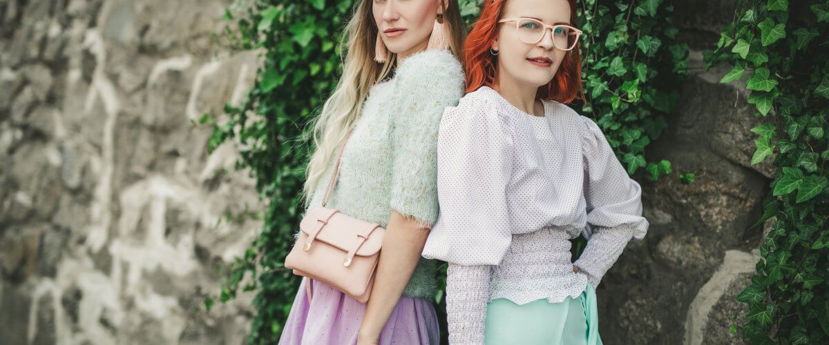 Pastel colors & red hair