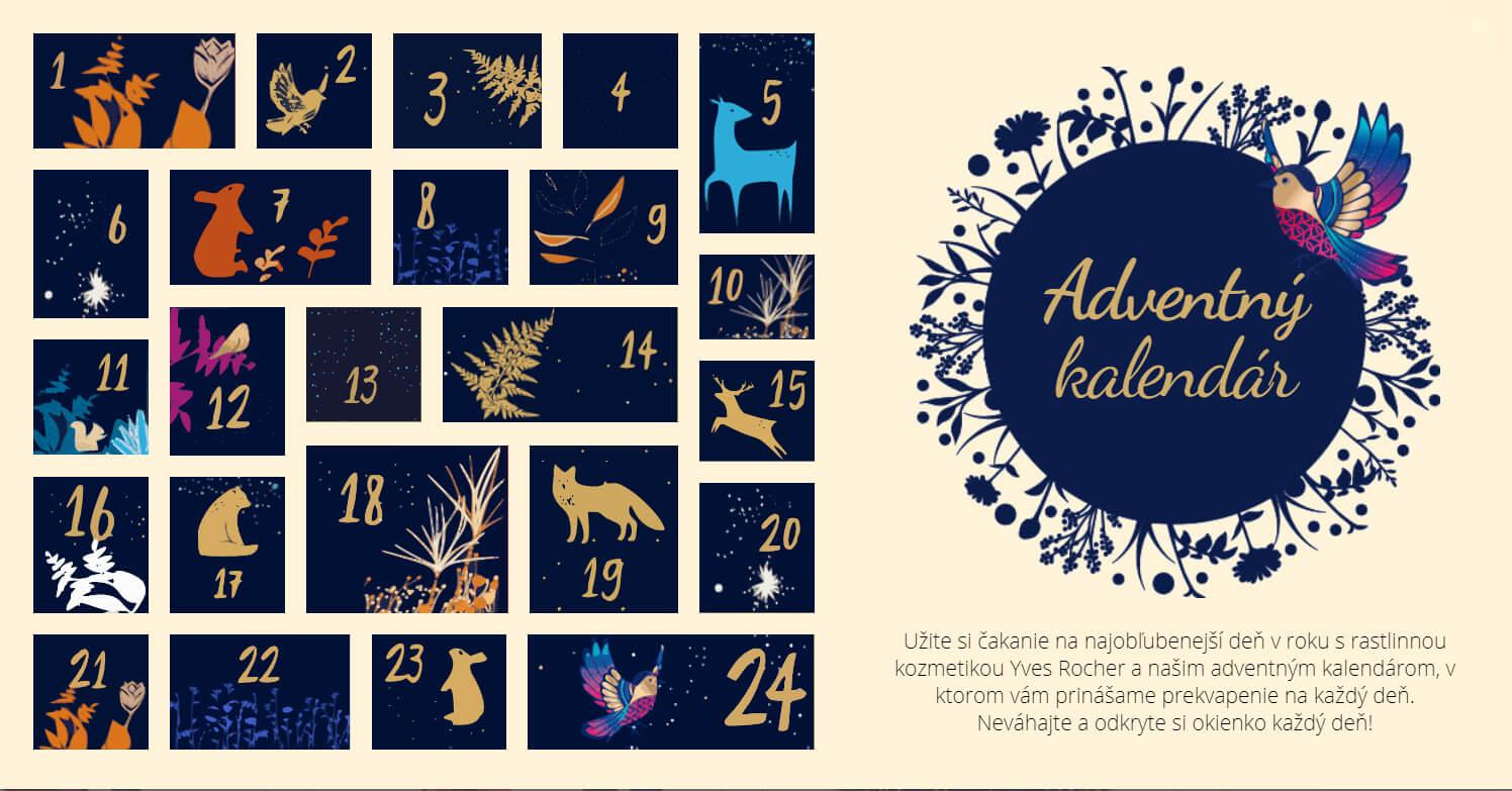 adventný kalendár Yves Rocher
